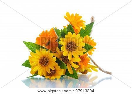 Bouquet Of Flowers With Summer Daisies
