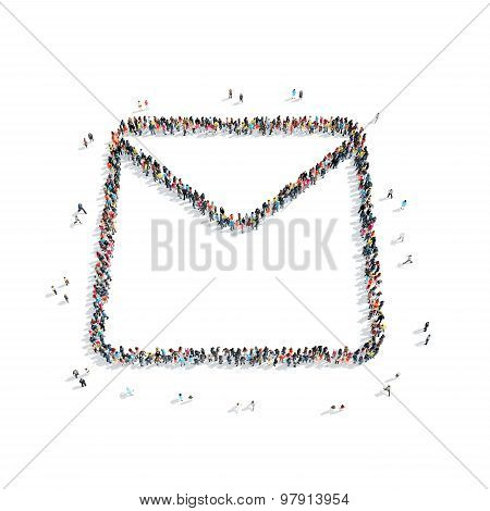 group  people  shape  letter e-mail