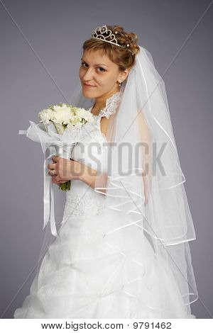 Formal Portrait Of Beautiful Bride