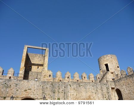 Detail of the walls of the castle of Frias, Spain