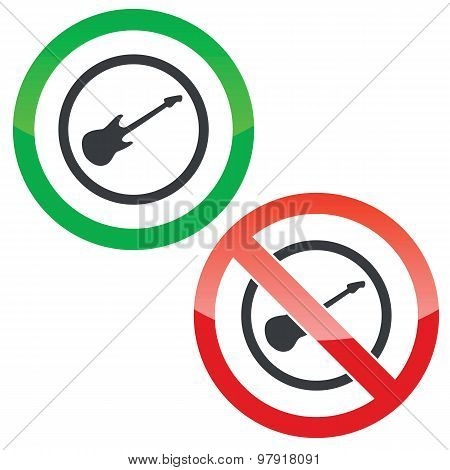 Guitar permission signs