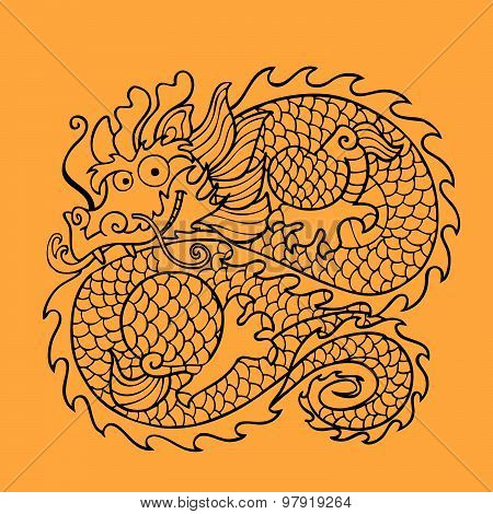 Chinese Dragon Character
