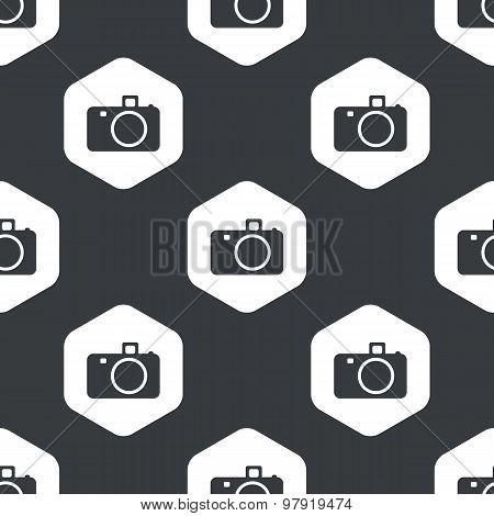 Black hexagon camera pattern
