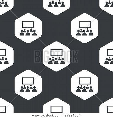 Black hexagon audience pattern