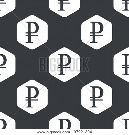 Black hexagon ruble pattern