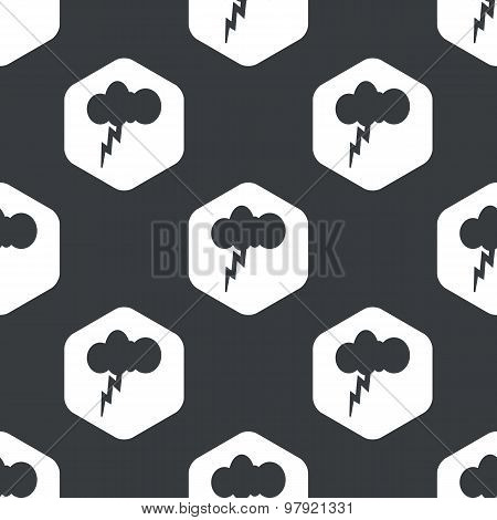 Black hexagon thunderstorm pattern