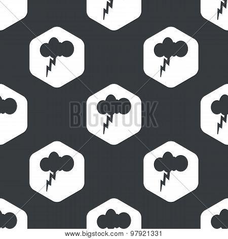 Black hexagon thunderstorm pattern