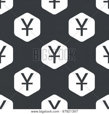 Black hexagon yen pattern