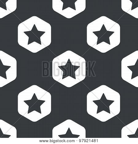 Black hexagon star pattern