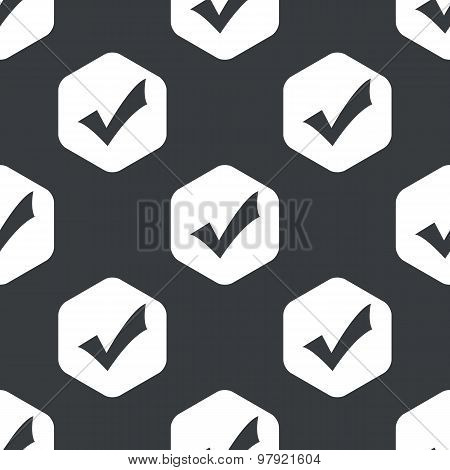 Black hexagon tick mark pattern