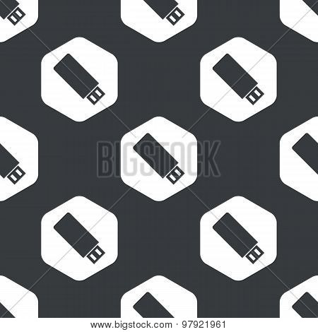 Black hexagon USB stick pattern