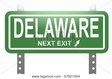 Delaware Green Sign Board Isolated