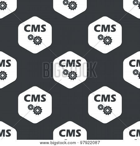 Black hexagon CMS settings pattern