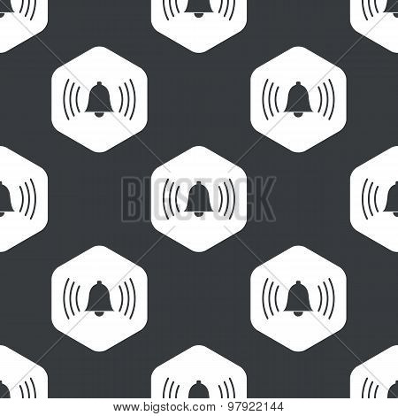 Black hexagon ringing bell pattern