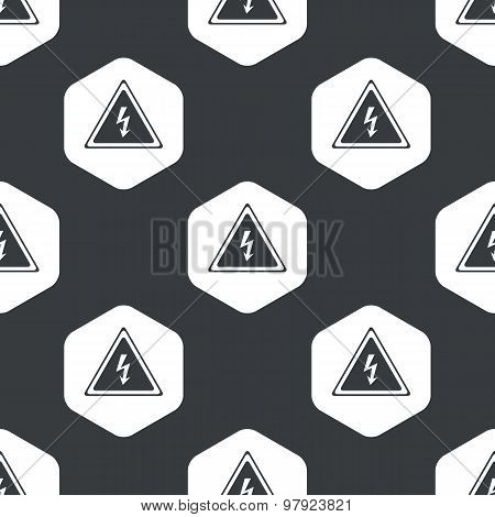 Black hexagon high voltage pattern