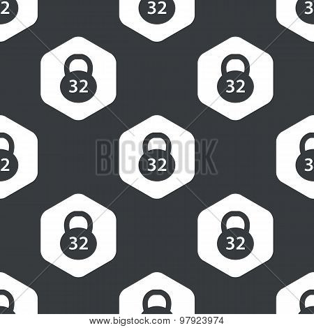 Black hexagon dumbbell pattern