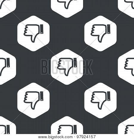 Black hexagon dislike pattern