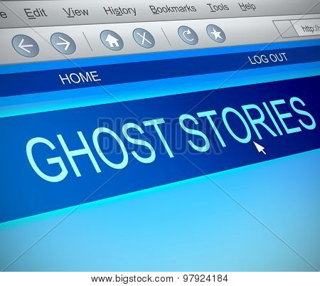 Ghost Stories Concept.