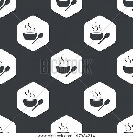 Black hexagon hot soup pattern