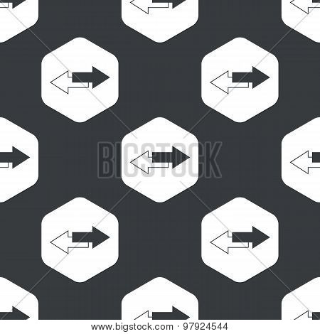 Black hexagon straight opposite pattern
