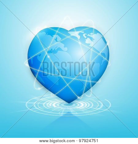 Global Heart Technology Connection Worldwide.