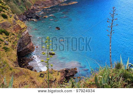 View Over The Sea In Azores Portugal