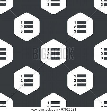 Black hexagon numbered list pattern