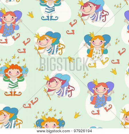 Vector illustration of girls fairies.