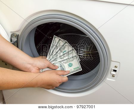 Concept Crime Of Dollar Laundry