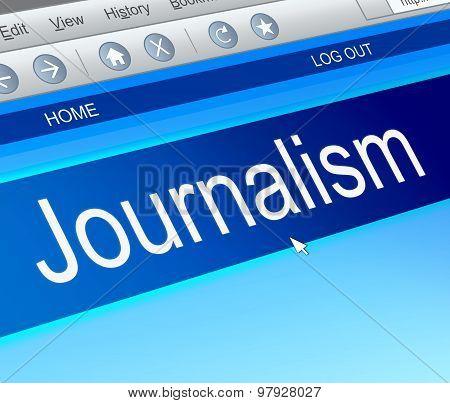 Journalism Concept;