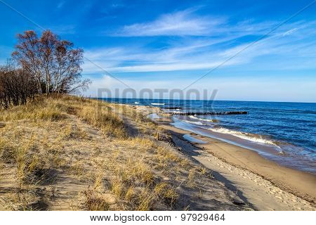 Whitefish Point On Lake Superior