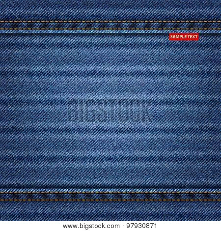 jeans blue texture denim background. vector illustration eps10