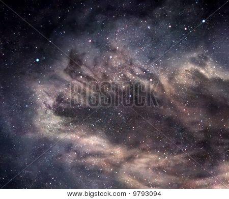 Dark Nebula In Deep Space