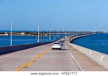 Atlantic Intracoastal And Highway Us1. Florida Keys Interstate.