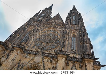 Prague St Vitus Cathedral Front Facade