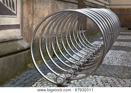 Bicycle Rack Made Of Stainless Steel