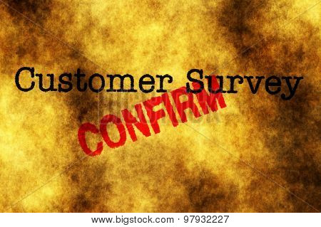 Customer Survey Confirm