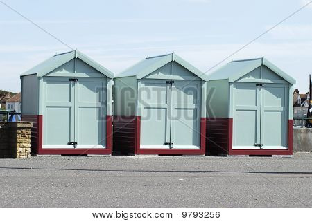 Beach Huts At Hove, Brighton, UK
