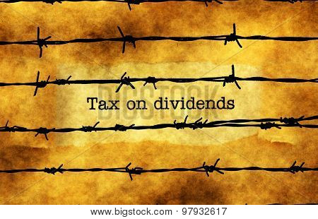 Tax On Dividends Concept