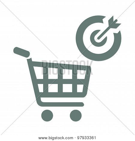 Target market concept icon