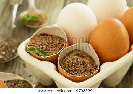 Natural egg replacers