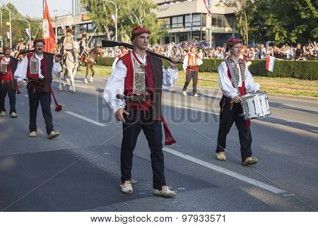 Military Festive Parade Of The Croatian Army