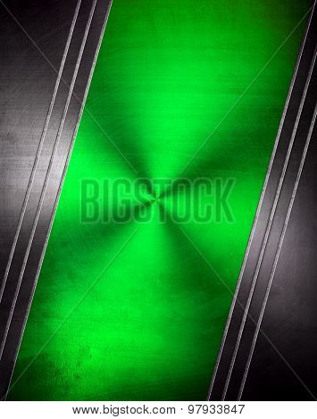green metal plate background