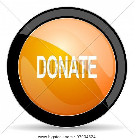 donate orange icon