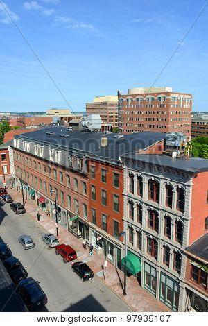 Portland Historic Downtown, Maine, USA