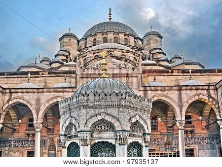 Inner courtyard of the New Mosque, Istanbul