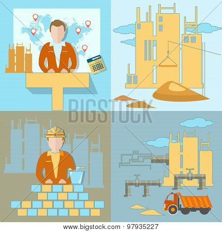 Construction Of The Pipeline, Business, Industry, Construction Site, Work, Crane, Global Planning