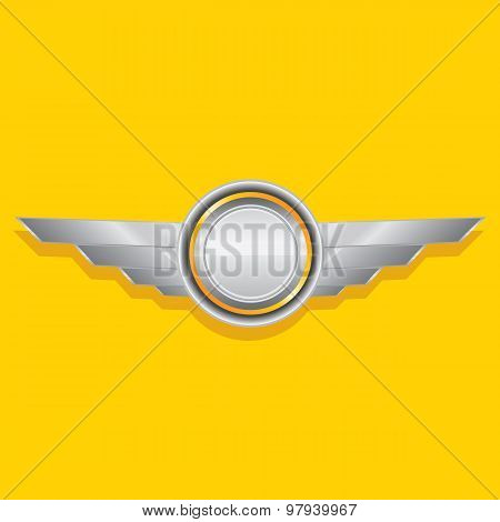 Vector metallic automotive, motorcycle badge