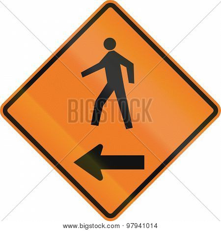 Pedestrians On The Left In Canada