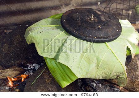 Pot Of Food Outdoor Cooking Nicaragua